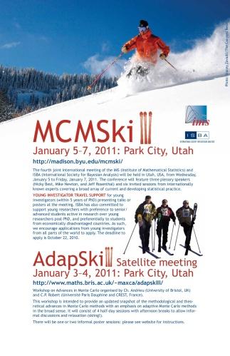 MCMSki III poster, 2010 (C.) IMS
