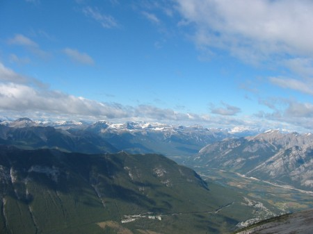 Banff west-northern range from Rundle, Sept. 10, 2010
