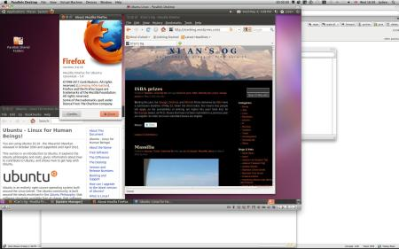 screen shot with ubuntu 10.10