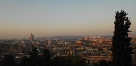 Roma from Piazzale Napoleone I, Villa Borghese, Feb. 29, 2012