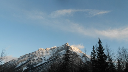 Cascade mountain, Banff, March 18, 2012