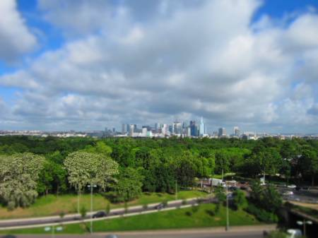 from my office, La Défense & Bois de Boulogne, Paris, May 15, 2012
