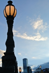 Street light near the St Kilda Road bridge, Melbourne, July 21, 2012