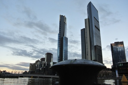 south bank of the Yarra river, Melbourne, July 21, 2012
