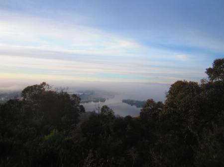 inversion building over the Australian Capital Territory from Black Mountain, Aug. 14, 2012