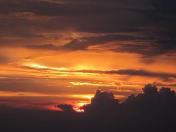sunset over Singapore, Aug. 24, 2012 (Happy Birthday, Rachel!)