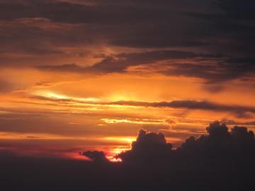 sunset over Singapore, Aug. 24, 2012 (Happy Birthday, Rachel!)