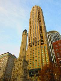 Water Tower, Michigan Avenue, Chicago, Oct. 31, 2012