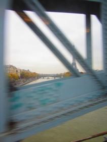 crossing the Seine in RER C near Maison de la Radio, Nov. 09, 2012