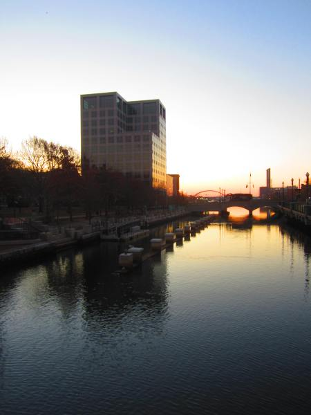 ICERM building by the canal, Providence, RI, Nov. 29, 2012