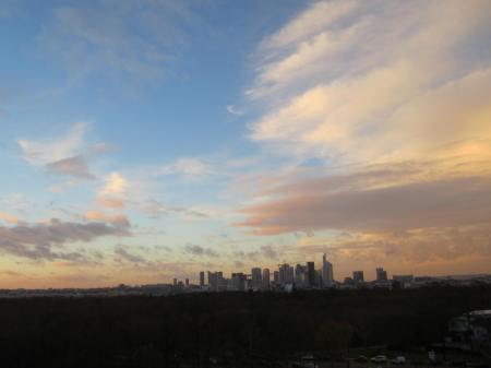 sunset on La Défense, Paris, Dec. 06, 2012
