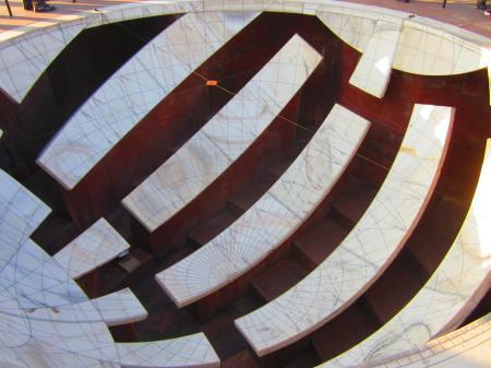 one of two bowls for following stars,  known as Jai Prakash Yantra, Jantar Mantar, Jaipur, Rajasthan, Dec. 31, 2012