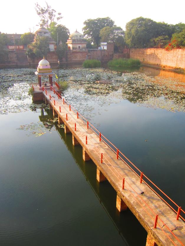 shrine on a pond near the Sikh Temple, Gwalior Fort, Jan. 3, 2013