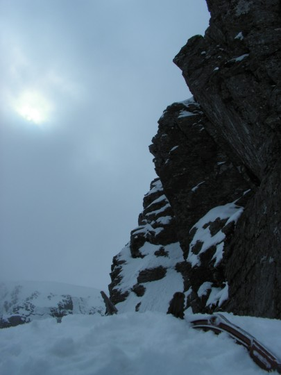on Tower Ridge, Ben Nevis, Scotland, Apr. 23, 2012