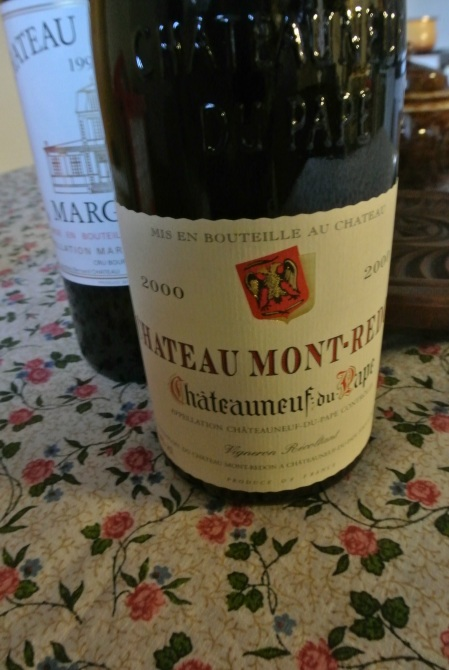 a very rich, almost heady, Chateauneuf-du-Pape 2000