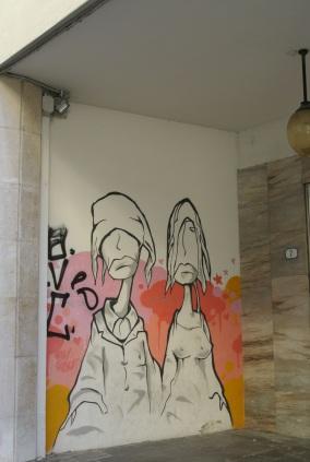 mural on via Roma, Padova, March 22, 2013