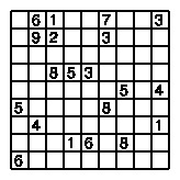 The hardest Sudoku ever, by H. Watanabe