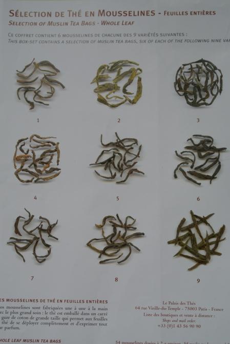 Selection of muslin tea bags, Palais des Thés