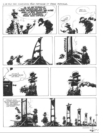 Franquin's piece on death penalty, part of the Idées Noires album...