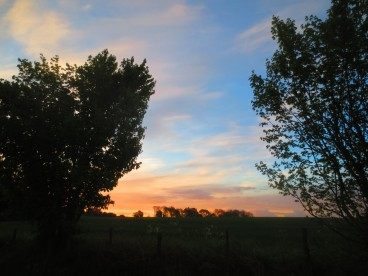 sunrise on the road to Kenilworth, May 7, 2014