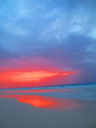 sunrise in Cancún, July 15, 2014