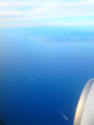 over the Ligurian sea, April 15, 2016