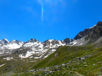 end of the plateau, Rifugio Vittorio Stella, Aosta, July 16, 2016