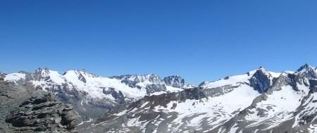 view from Colle Della Rossa, Aosta, July 16, 2016