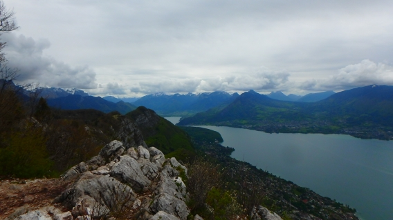 Most of the lake from the top of Mt Veyrier, 880m above, on a hike we managed to escape rainstorms, 18 May 2021